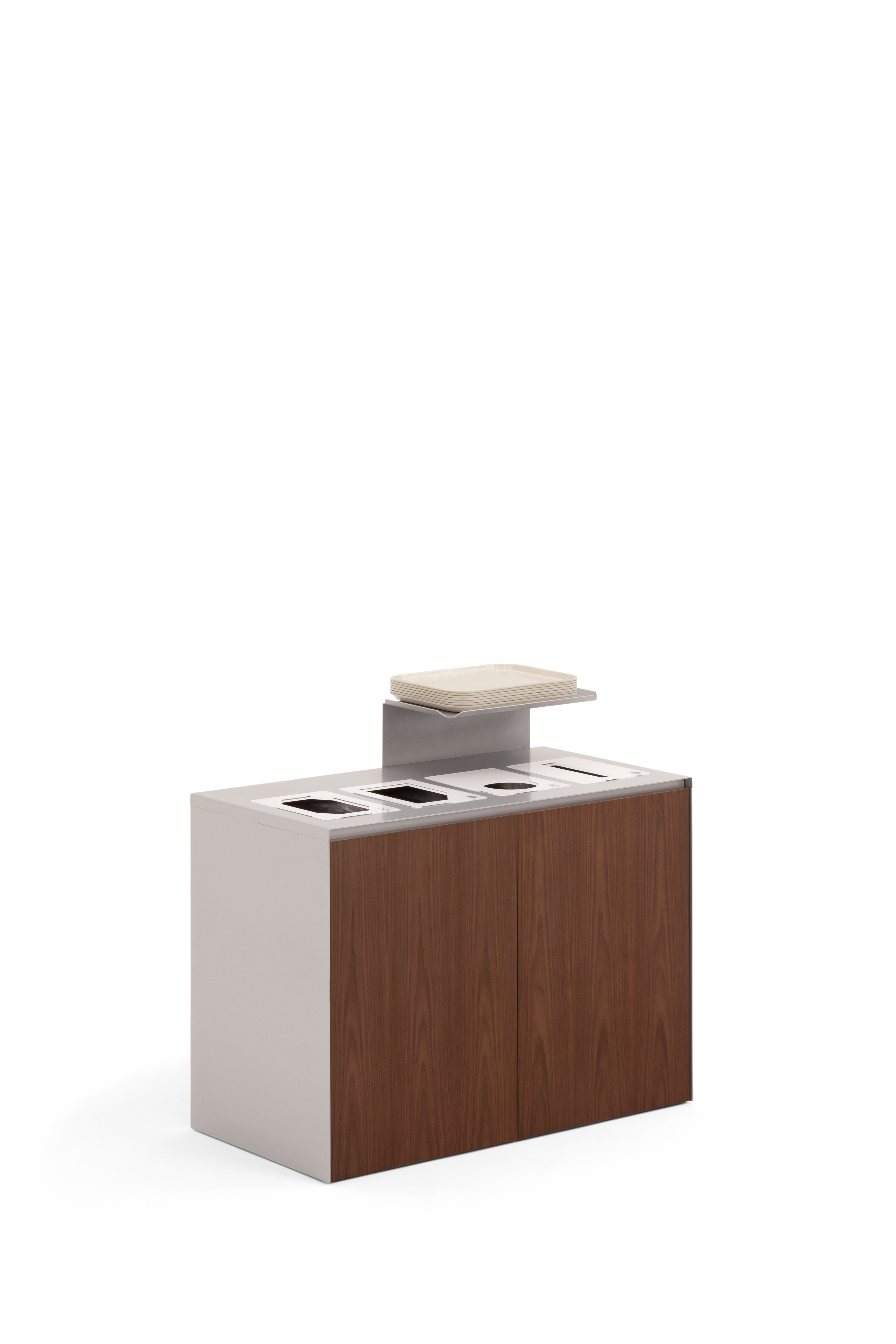 4-slot stationary unit with optional tray shelf