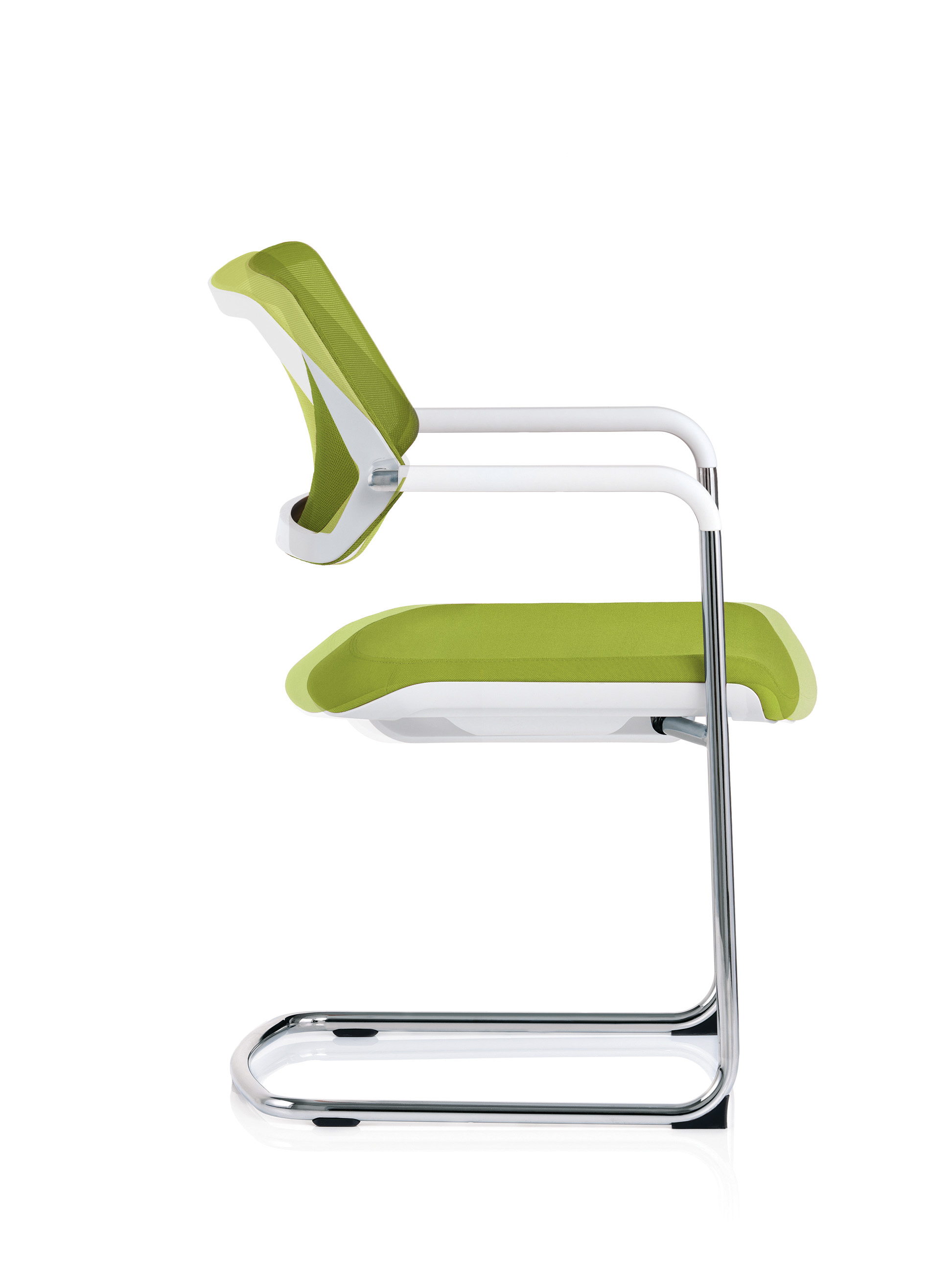 QiVi sled chair showing pivoting back and gliding seat movement