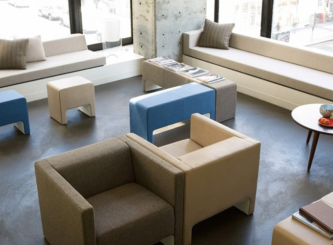 Davos Lounge Chairs with Davos Benches