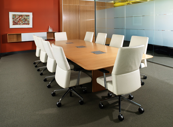 Host Table with Switch Executive Chairs