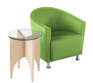 Jenny Round with alight Table