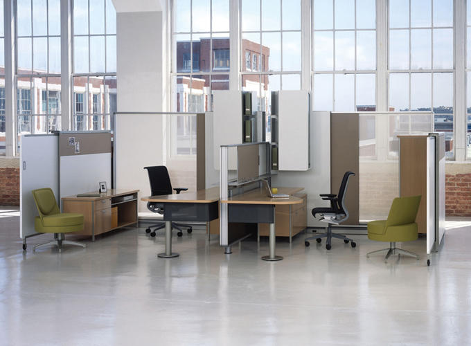 Topo Desking with Think Executive Chairs?? and Topo Lounge Chairs