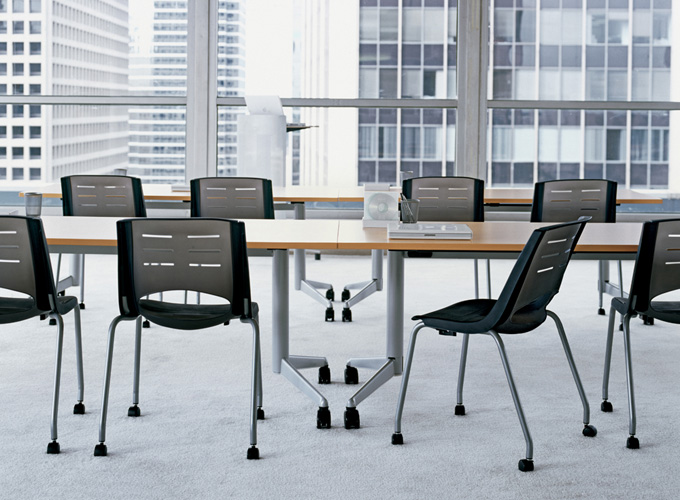 X-Stack Chairs with Flip Flop Tables