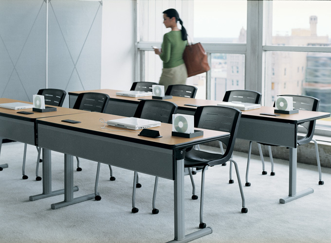 X-Stack Chairs with Runner Tables