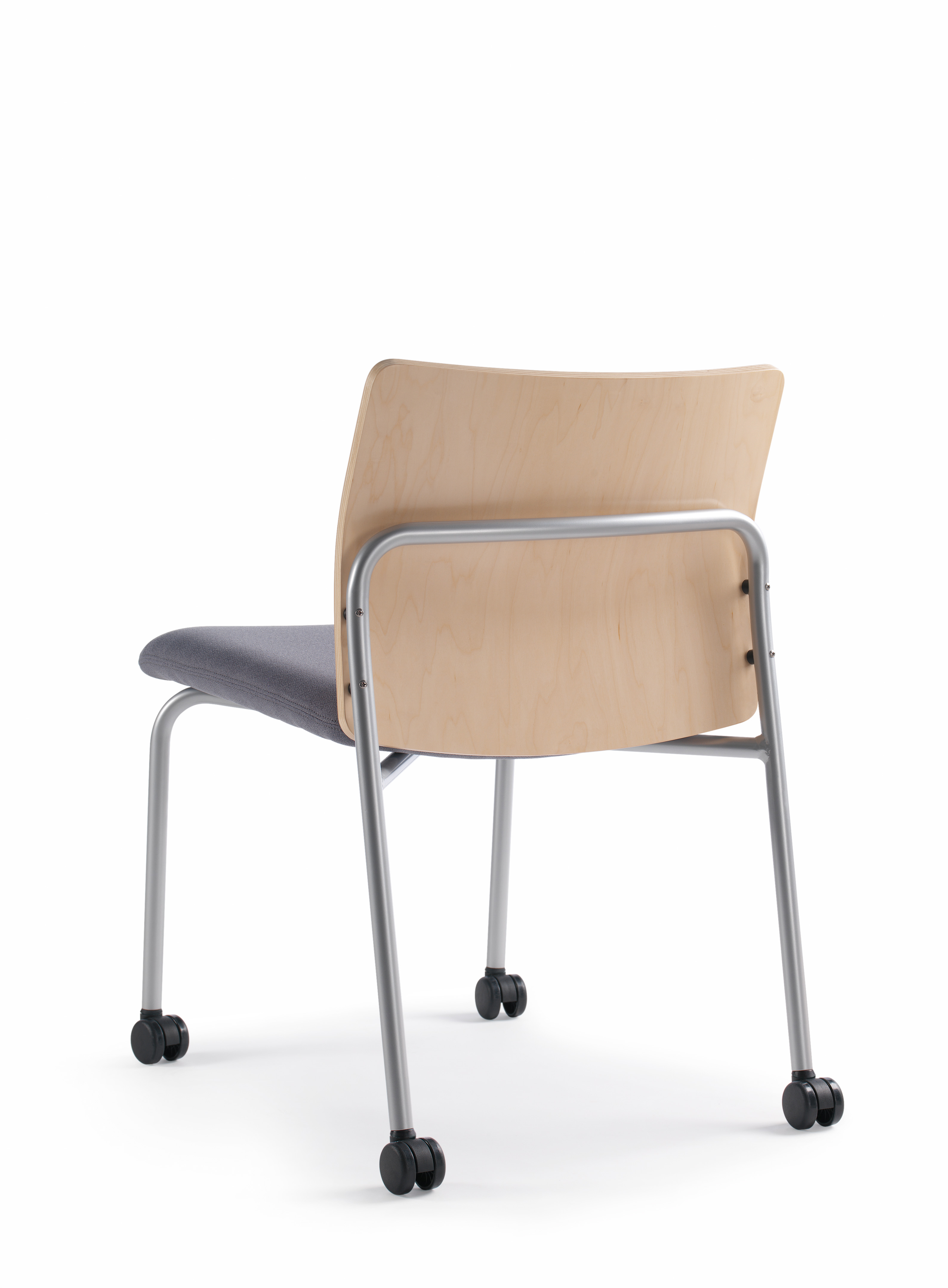 Crew Guest Chair with wooden back, rear view