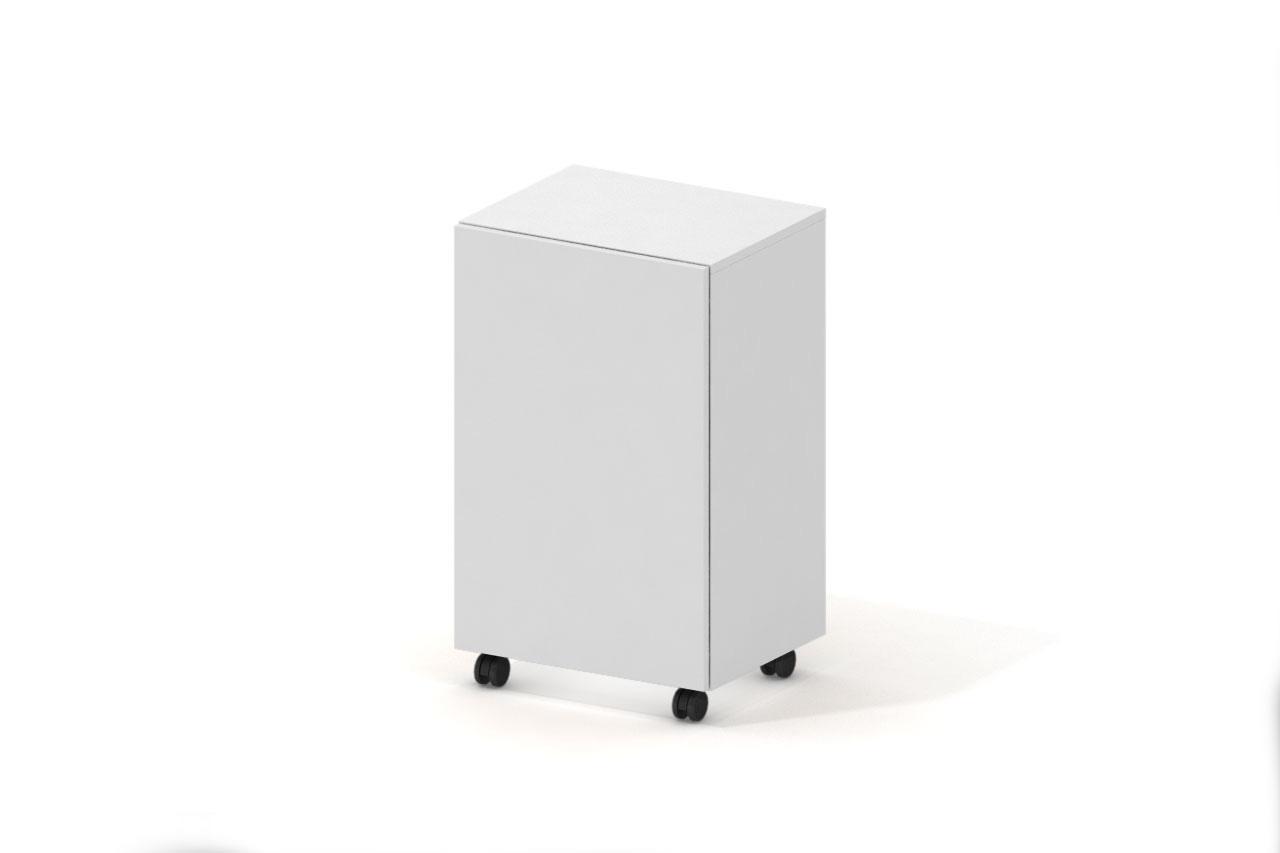 Campfire Mobile Storage Cabinet - Arctic White