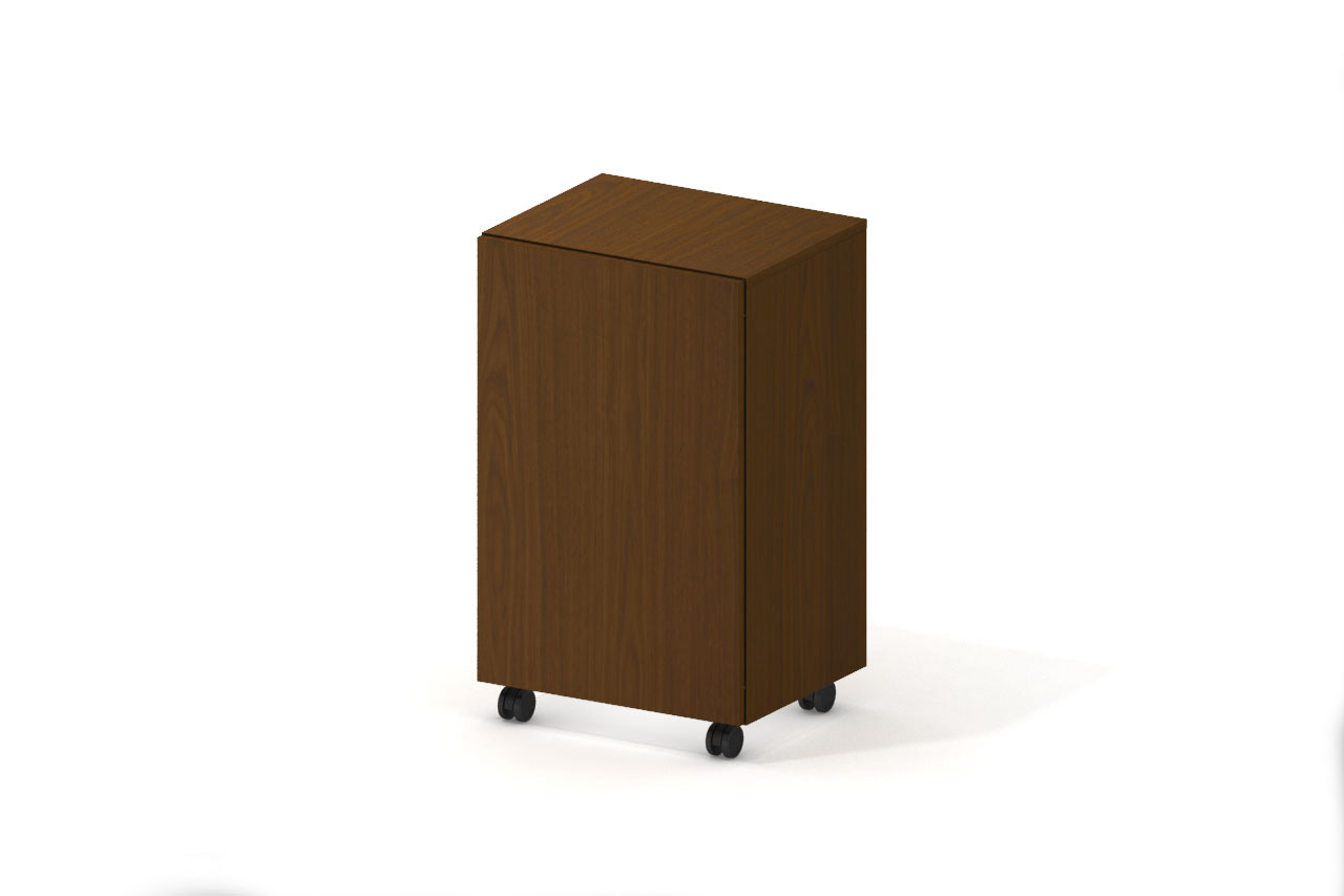 Campfire Mobile Storage Cabinet - Clear Walnut finish