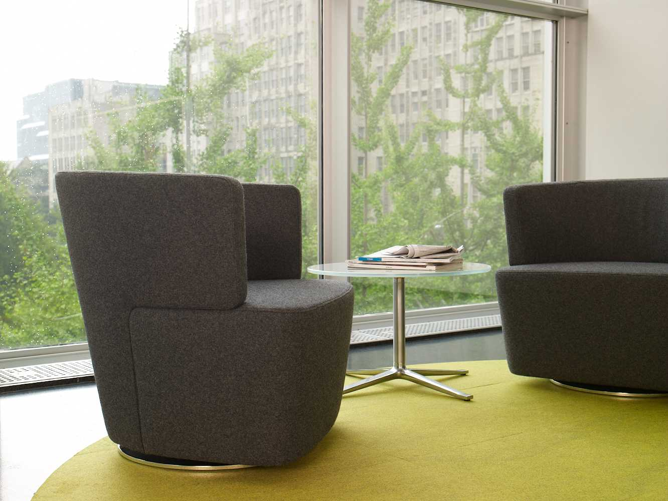 Joel Lounge Chairs with Bob Table