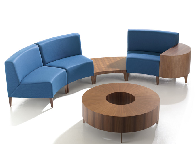 Circa Modular Seating with Circa Tables