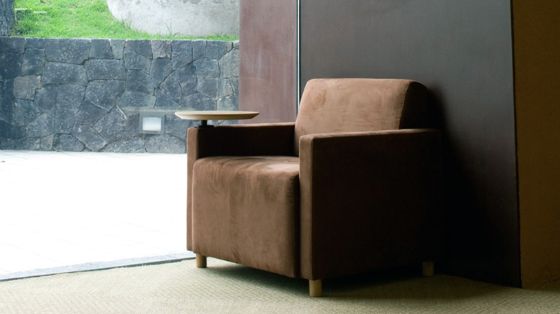 The Coupe collection of lounge seating includes grande, mobile, and wood models.