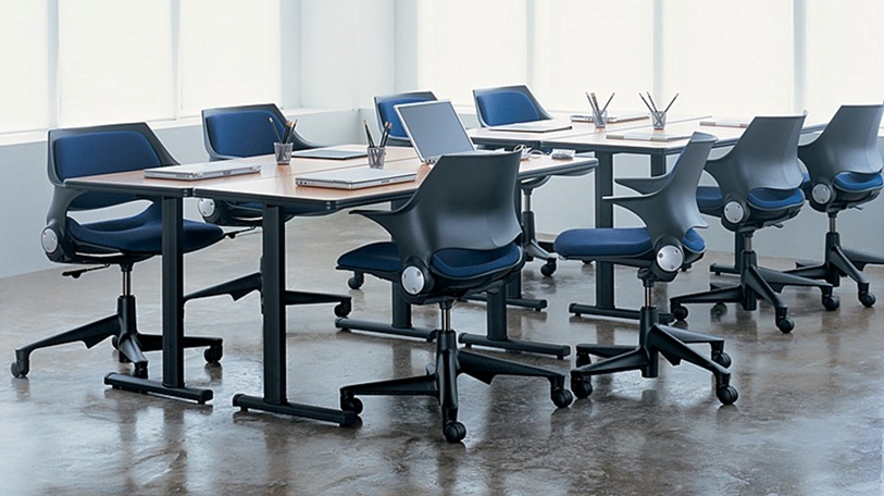 The Runner table by Coalesse, perfect for conference rooms, training and higher education, is shown