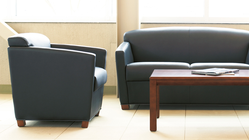 The Swathmore collection is a full line of tables, chairs and sofas. A simple, comtemporary line of