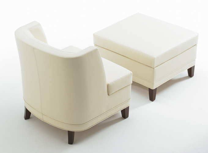 Toughtful Lounge Chair and Ottoman