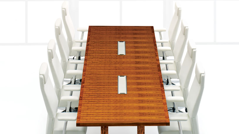 Convene table with Siento chairs